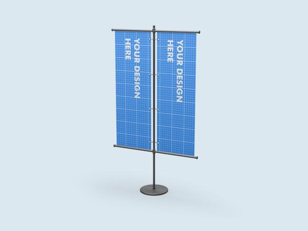 Maquette de bannière double support vertical