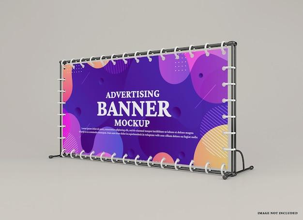 Maquette de bannière de mur publicitaire