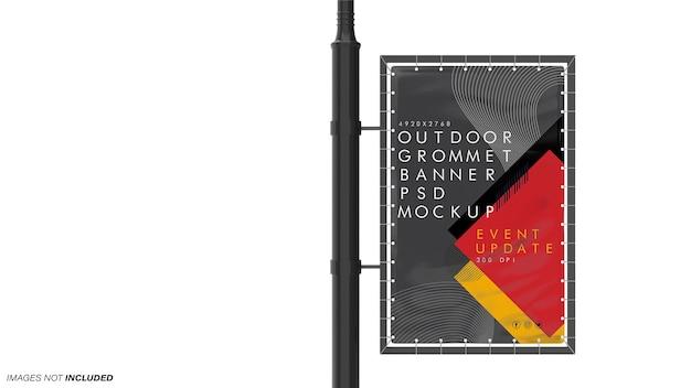 Maquette de bannière à œillets extérieurs