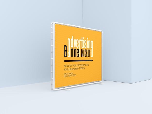 Maquette de bannière publicitaire