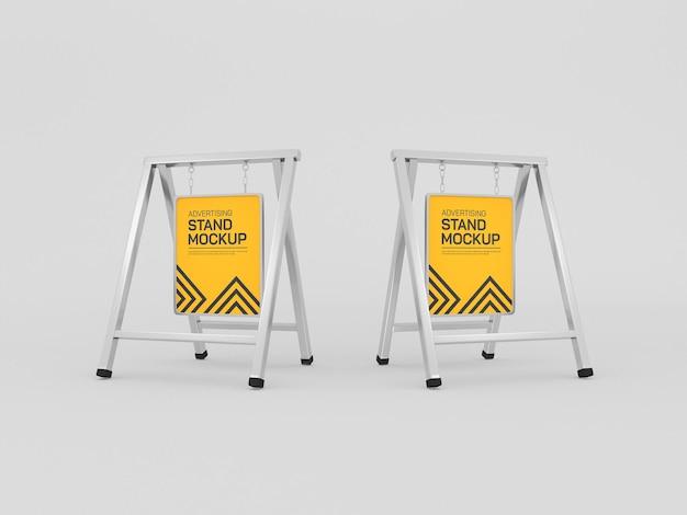 Maquette de bannière de stand publicitaire