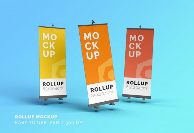 Maquette de bannières roll-up