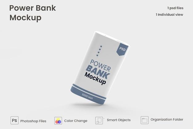 Maquette de banque d'alimentation rectangulaire premium psd