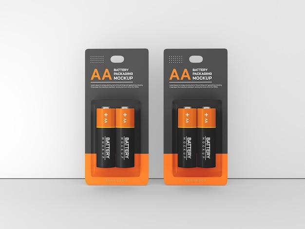 Maquette de batterie aa isolée