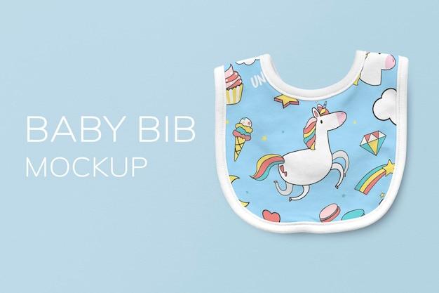 Maquette de bavoir pour bébé psd, accessoire mignon pour enfants