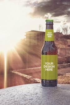 Maquette de bière verticale