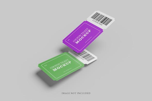 Maquette de billet de coupon