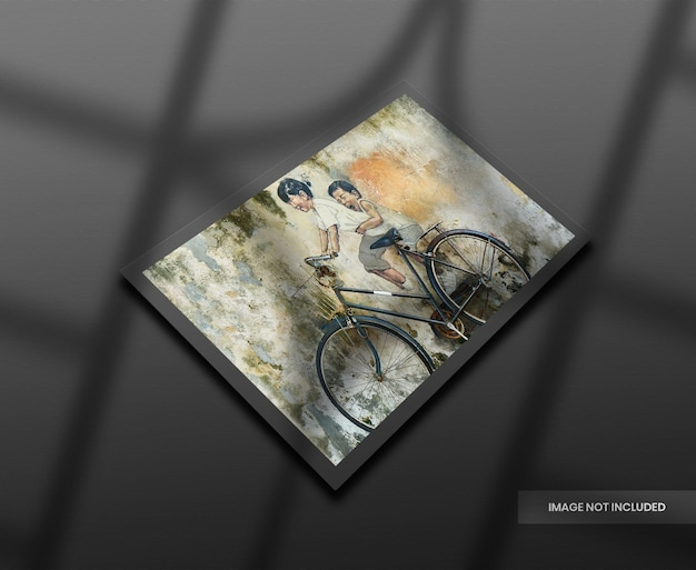 Maquette De Billet Avec Ombre Réaliste PSD Premium