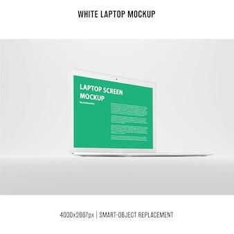 Maquette blanche pour ordinateur portable
