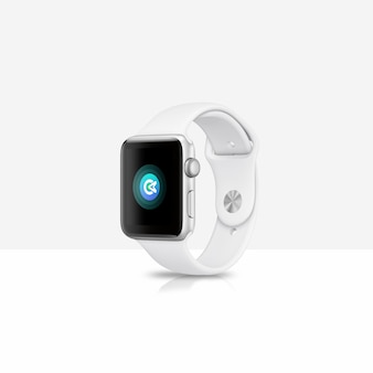 Maquette blanche smartwatch