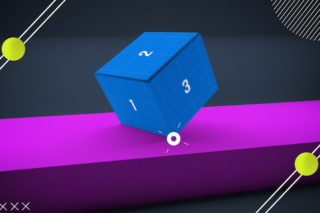 Maquette de boîte abstraite