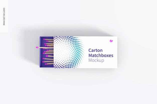 Maquette de boîte d'allumettes en carton, vue de dessus