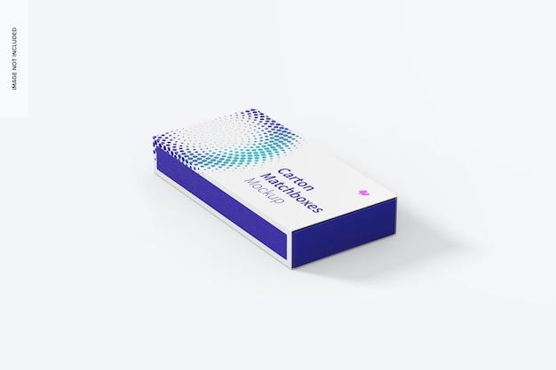 Maquette de boîte d'allumettes en carton