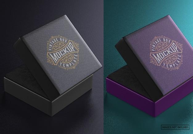 Maquette de boîte à bijoux carrée