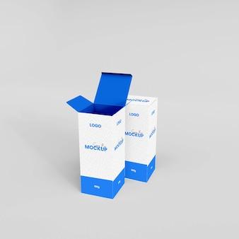 Maquette de boîte de bouteille de sirop réaliste 3d isolée