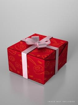 Maquette de boîte-cadeau de mariage