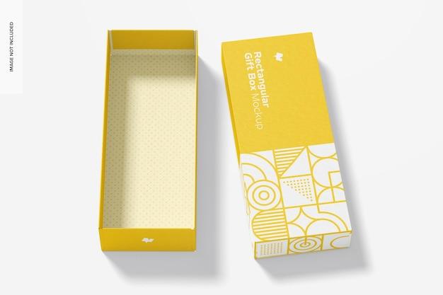 Maquette de boîte-cadeau rectangulaire