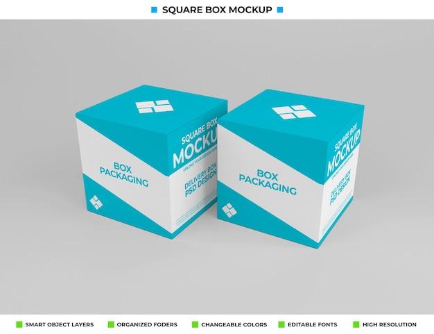 Maquette de boîte carrée pour l'emballage du produit