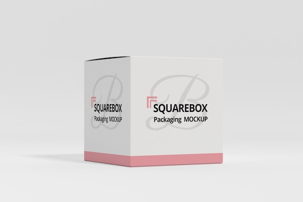 Maquette de boîte carrée