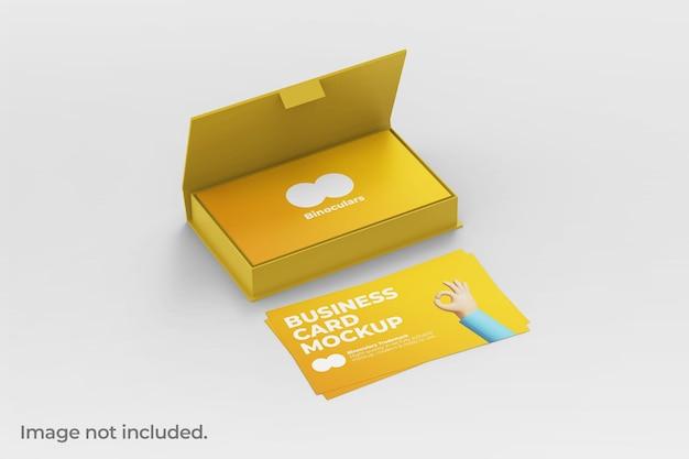 Maquette de boîte de carte de visite moderne et propre