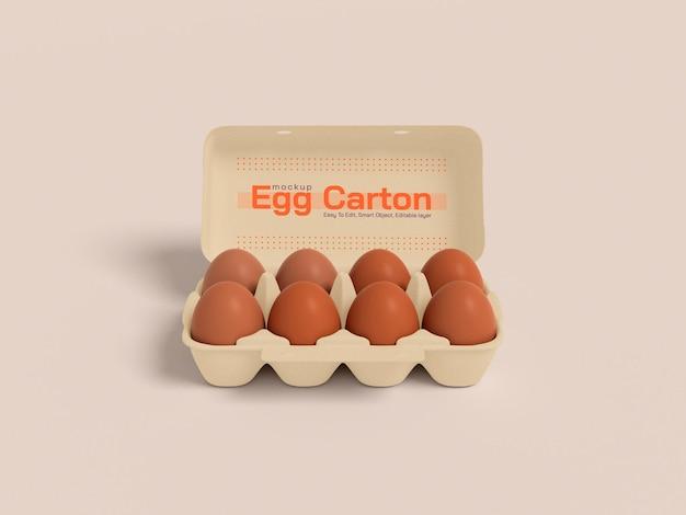 Maquette de boîte en carton à œufs