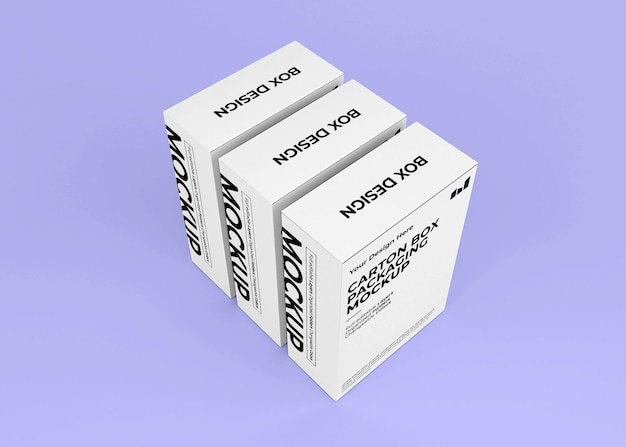 Maquette de boîte en carton vue de dessus pour la marque de produit
