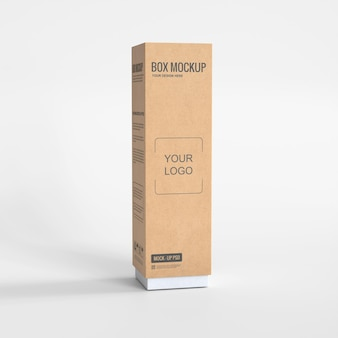 Maquette de boîte en carton