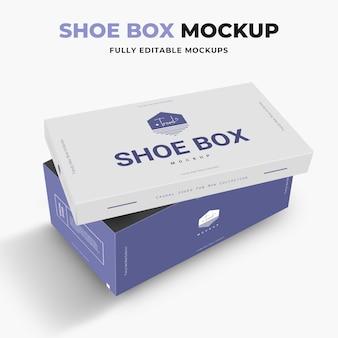 Maquette de boîte à chaussures