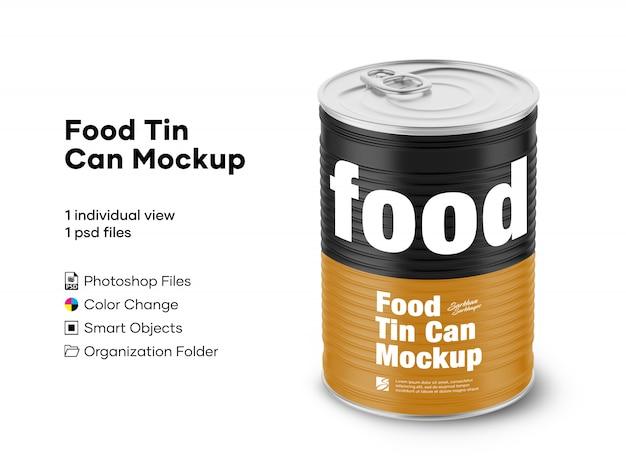 Maquette de boîte de conserve alimentaire