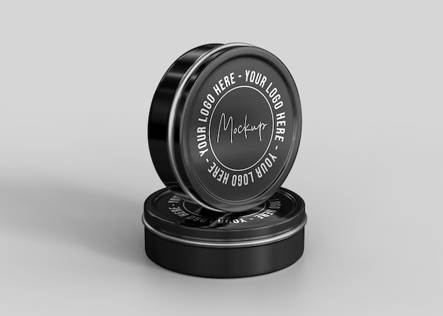 Maquette de boîte de conserve cosmétique mate