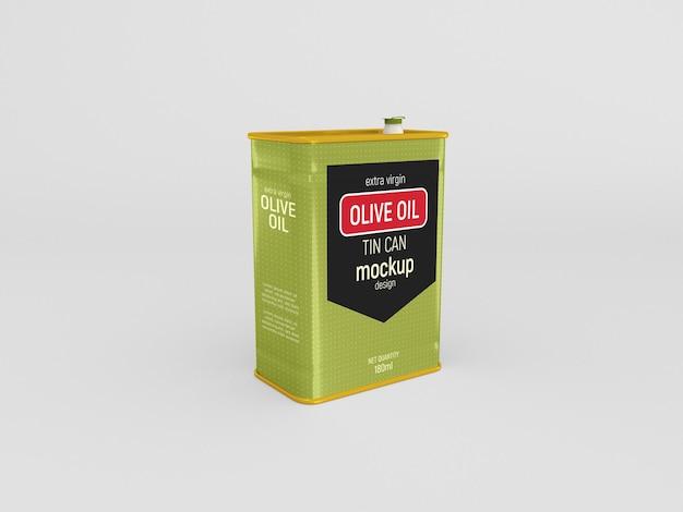 Maquette de boîte de conserve d'huile d'olive