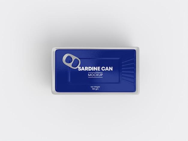Maquette de boîte de conserve de sardines