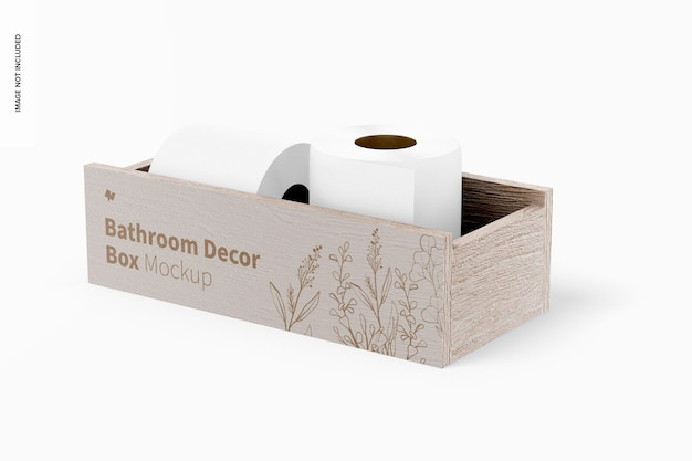 Maquette de boîte de décoration de salle de bain