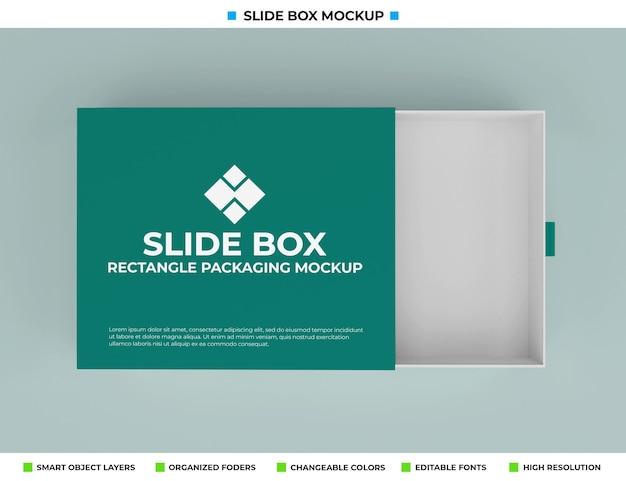 Maquette de boîte de diapositive isolée sur fond de couleur douce