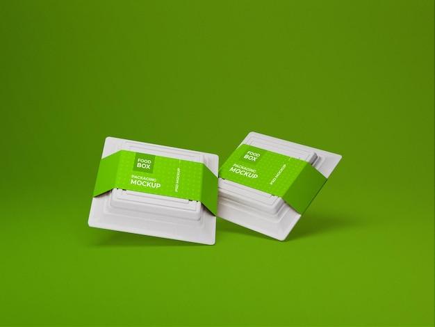 Maquette de boîte d'emballage alimentaire