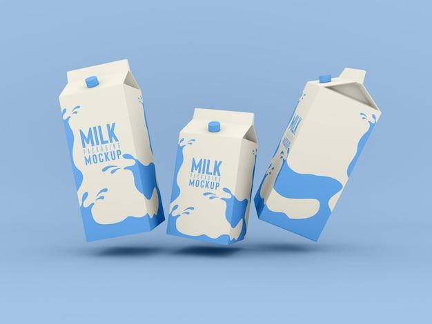 Maquette de boîte d'emballage de lait