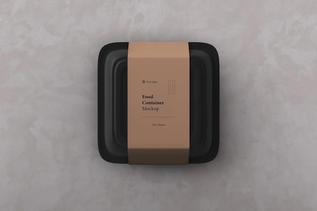 Maquette de boîte d'emballage de récipient de nourriture à emporter