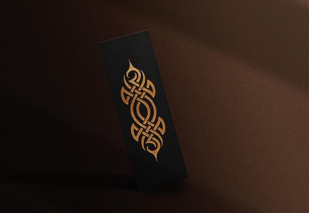 Maquette de boîte flottante en relief en or de luxe