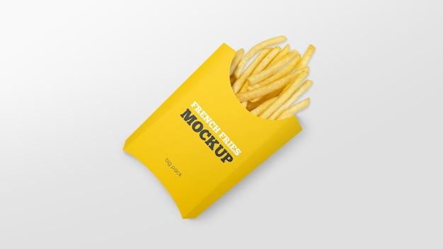 Maquette de boîte à frites en papier