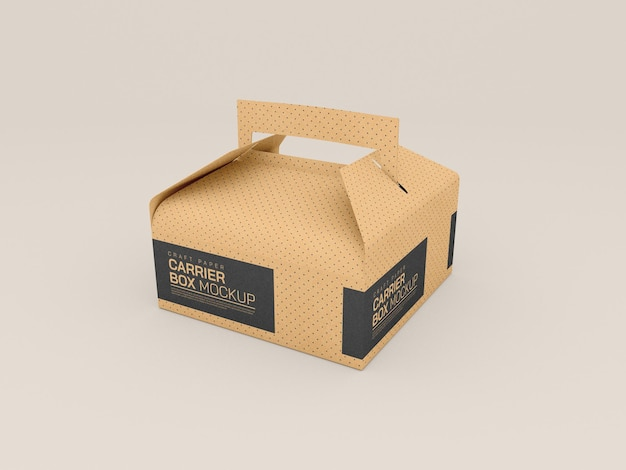 Maquette de boîte de livraison en carton