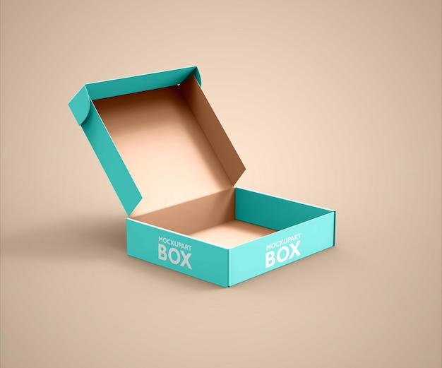 Maquette de boîte de livraison ouverte