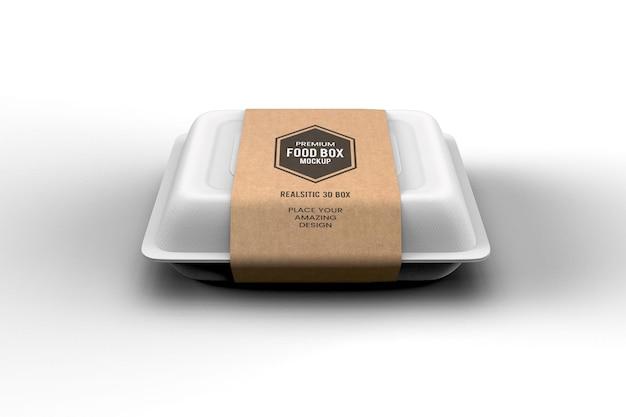 Maquette de boîte de livraison de restauration rapide