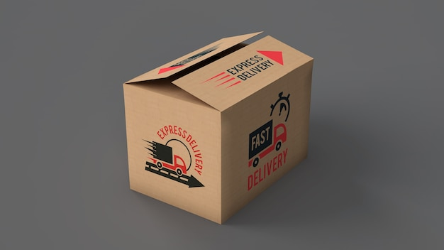 Maquette de boîte de livraison