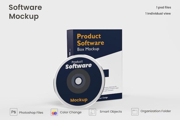 Maquette de boîte de logiciel psd gratuit