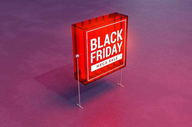 Maquette de boîte à lumière concept vendredi noir