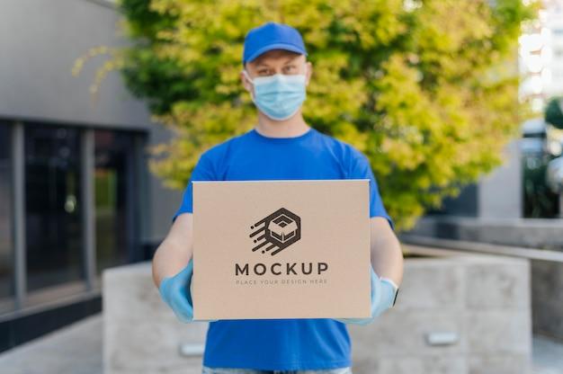Maquette de boîte de maintien de courrier