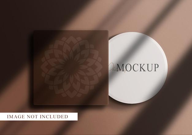 Maquette de boîte de maquillage de luxe