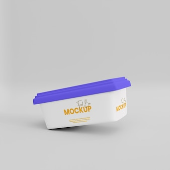 Maquette de boîte de nourriture 3d