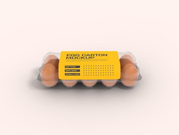 Maquette de boîte à œufs transparente