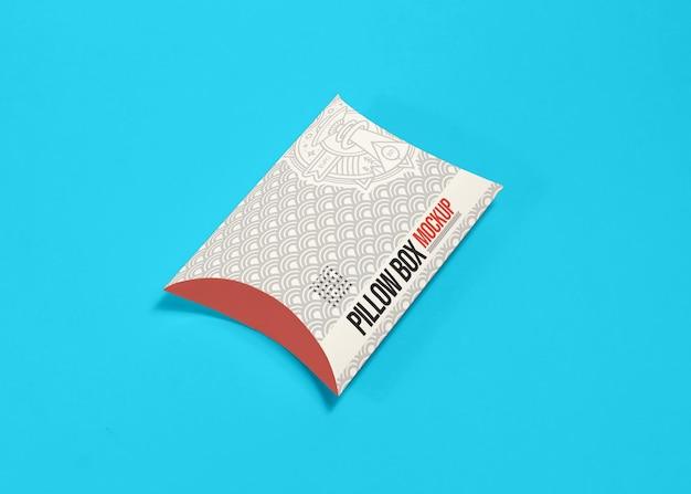 Maquette de boîte d'oreiller d'emballage